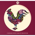 Rooster year greeting card vector image vector image