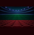 rows of red seats vector image vector image