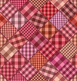 Seamless background of patchworks vector image vector image