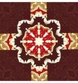 Seamless oriental ornamental pattern in brown vector image vector image