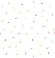 seamless pattern falling confetti with white vector image
