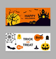 set halloween banner background flat design vector image