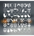 Set of 48 blank of retro shields vector image vector image