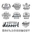Set of dessert labels badges and icons vector image vector image