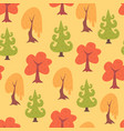 simple flat trees seamless pattern vector image vector image