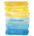 summer striped watercolor hand draw background vector image vector image