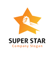 Super Star Design vector image vector image