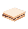 tasty food a sandwich with chocolatefood single vector image vector image