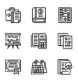 tax icon set outline style vector image