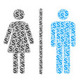 toilet persons composition of dollar vector image