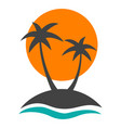 travel badg with palm trees vector image