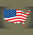 united state map and flag vector image vector image