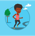 young woman running vector image vector image
