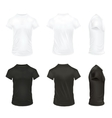 Realistic T Shirt Icon Set vector image