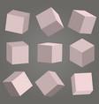 3d cubes box square geometric shape vector image vector image