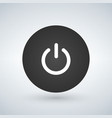 abstract power button for websites ui or vector image vector image