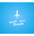 Airplane on a Sunny Day vector image