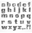 Alphabet on white vector image vector image