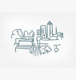 arc city sketch isolated simple design element vector image vector image