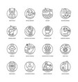 artificial intelligence line icons 4 vector image vector image