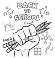 Back to school coloring page vector image vector image