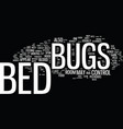 bed in a bag text background word cloud concept vector image vector image