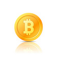 bitcoin symbol icon sign emblem vector image
