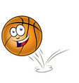 bouncing basketball cartoon isolated on white vector image