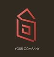 Business logo simple house geometric icon design vector image