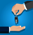 car rental or sale concept in flat style vector image vector image