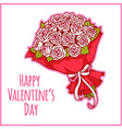 Card for Valentines Day with a bouquet of white vector image vector image