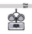 cartoon robot face screaming cute emotion chat bot vector image vector image