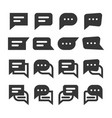 chat speech bubbles and dialog balloons glyph vector image vector image