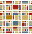 Colorful mosaic tiles seamless pattern vector image