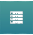 Computer Server icon flat design vector image