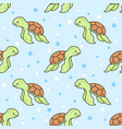cute turtle seamless pattern background vector image vector image