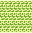 decorative seamless texture with green leaves vector image vector image