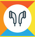 earmuff colorful outline symbol premium quality vector image vector image