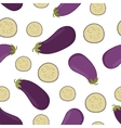 eggplant seamless pattern vector image