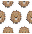 embroidery lion seamless pattern vector image