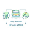 family hotel room concept icon vector image vector image