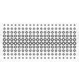 gear shape halftone pattern vector image vector image
