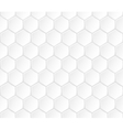 Geometric white hexagonal seamless pattern vector image