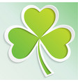irish shamrock leaves background for happy st vector image