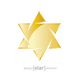jewelery golden star on white background vector image vector image