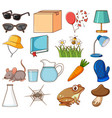 large set different equipments and other items vector image vector image