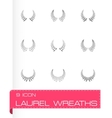 laurel wreaths icon set vector image