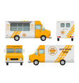 mobile restaurant identity business tools of vector image vector image