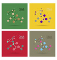 molecules concept of neurons and nervous system vector image vector image