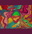 motley abstract lines art pattern rainbow vector image vector image